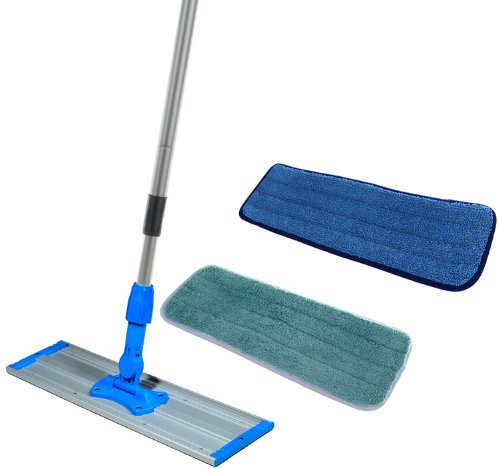 (Commercial Grade 24 inch Microfiber Mop Kit With Two Microfiber Mop Pads)
