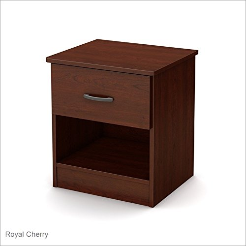 South Shore Libra 1-Drawer Nightstand, Royal - Nightstand Drawer Wood
