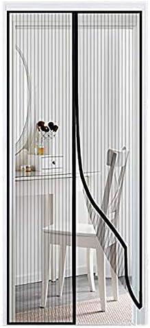 Zanzariera Magnetica, Tenda Anti Zanzare Rete di Ottima qualità per Porte di Soggiorno Camera da Letto Casa – Black 150x260cm(59x102inch)
