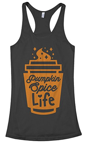Threadrock Women's Pumpkin Spice Life Racerback Tank Top