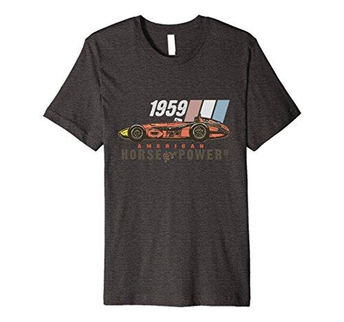Mens Indy Racing Vintage Heritage T Shirt XL Dark Heather