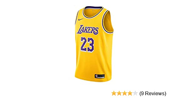 1721c390b Amazon.com   NIKE Men s Los Angeles Lakers Lebron James 2018-19 Icon  Edition Swingman Jersey Small Gold   Sports   Outdoors