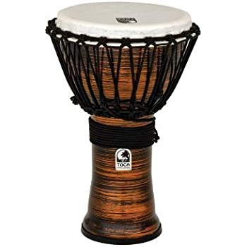 "Spun Copper Toca Freestyle 10/"" Djembe Drum"