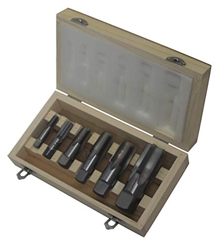 Drill America 6 Piece NPT Pipe Tap, Carbon Steel, DWTPT Series Set, 1/8