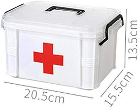 ULTECHNOVO Caja de Primeros Auxilios Vac/ía Contenedor de Almacenamiento de Gran Capacidad Caja de Asas Port/átil con Compartimentos Divididos para El Organizador de Viajes del Hotel Tama/ño S Azul