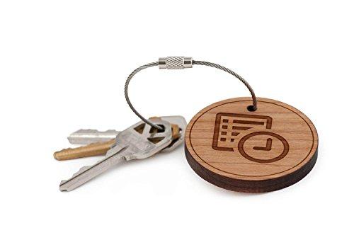Agenda Keychain, Wood Twist Cable Keychain - (Small Ring Agenda)