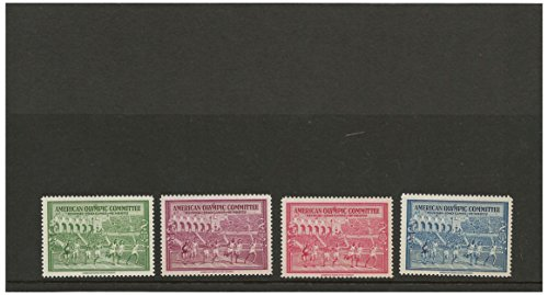 1940 Helsinki American Olympic Committee stamp set for collectors - American bank note company / St. Moritz