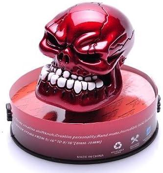 Bingohobby Car Gear Knob Universal Skeleton Skull Shift Knob 5 Speed 6 Speed Gear Shifter Stick Cover Blue