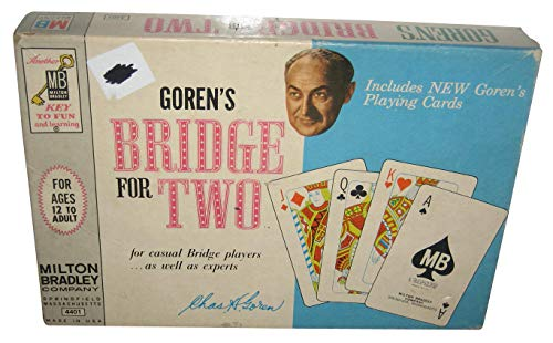 (VINTAGE Goren's Bridge for Two -- for casual Bridge players...as well as experts -- Milton Bradley Company -- 1964 -- complete as shown)