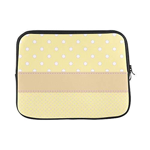 (Design Custom Orange Polka Dot Card Template Pattern 971703 Sleeve Soft Laptop Case Bag Pouch Skin for MacBook Air 11