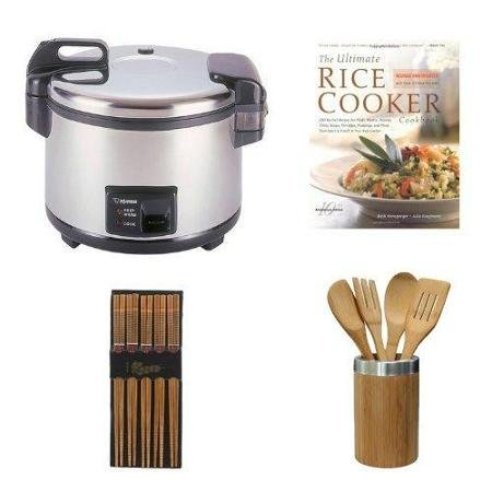Cup Commercial Rice Cooker and Warmer in Stainless Steel BundlechenAid Cook's Series Ceramic Crock With Tools Set ()