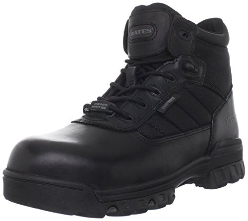 Bates Men's Enforcer 5 Inch SZ Leather Nylon SEMC Uniform Work Boot, Black, 10.5 M US