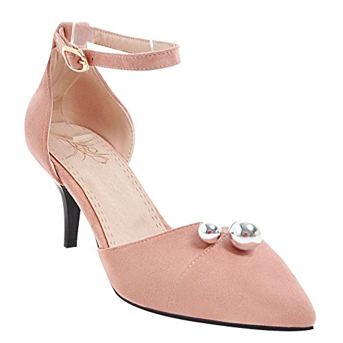 Mee Shoes Damen Kitten-Heels mit Blumen Spitz Pumps