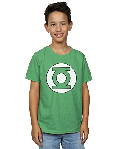 DC Comics Boys Green Lantern Logo T-Shirt 5-6 Years Irish - T-shirt Superhero Green