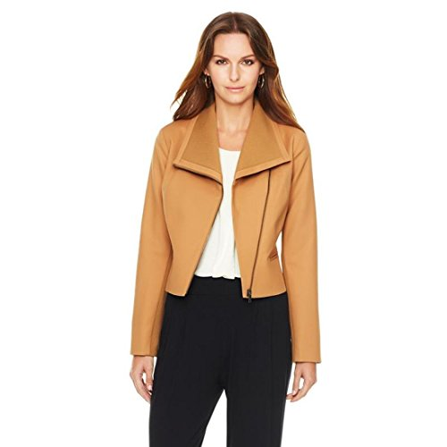 Giuliana Rancic Lina Cotton Sateen Stretch Cropped Jacket Camel S New 334 267