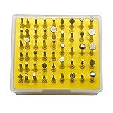 Oudtinx 50-Piece 1/8-Inch Shank Diamond Coated Rotary Burrs Set Fits Dremel Rotary Tools,Diamond Burr Set for Jewelry,Glass,Stone,Ceramic,ect.(Small Head Style)
