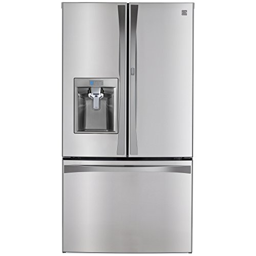 Kenmore 4673163 French Bottom Freezer Refrigerator with Grab-N-Go Door, 28.5 cu. ft, Stainless Steel