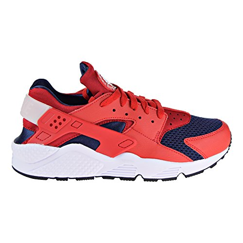 Red Nike Trainers White Leather Air Textile Huarache Mens wYrOqfw