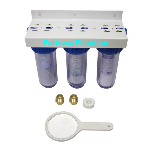 "Fortress Filtration Triple Stage 10"" x 2.5"" Water Filter Hou"