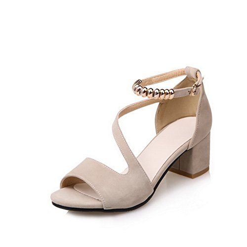 1TO9 Womens Non-Marking Peep-Toe Cold Lining Urethane Sandals MJS03276 Beige OacB0f