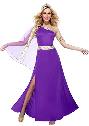 Goddessey 81014-L Royal Empress Costume - Purple, Large (Royal Empress Adult Costume)