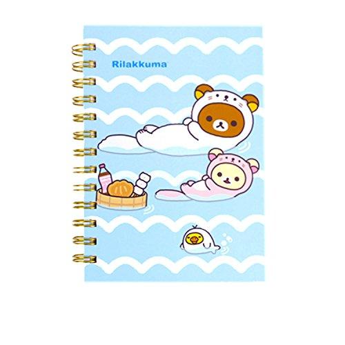 San-x Rilakkuma B6 Spiral Lined Notebook Note Pad (Otter Rilakkuma 1)