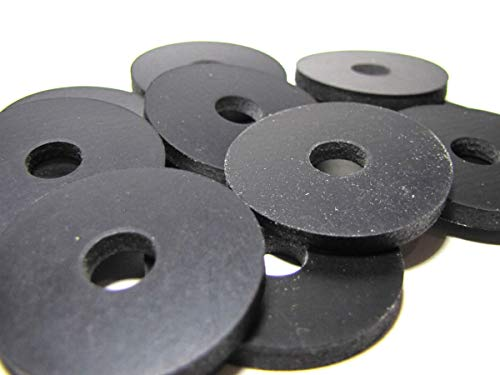 Reinforced Rubber Washers - (10) Heavy Duty 2 Ply Nylon Reinforced Neoprene Washers - 1 1/4