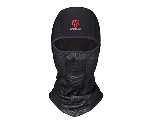 Balaclava Black Water-Repellent Lycra Fabric Winter Outdoor Sports Wind Ski Mask Ride Motorcycle Warm Mask Hat Headdress Women/Man