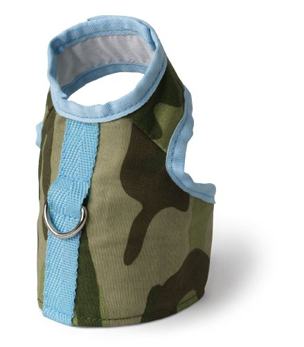 - Doggles Vest Dog Harness, Green Camo, Teacup