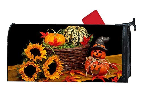 Tollyee Personalized Magnetic Mailbox Cover, Decoration s (Halloween & Fall Decorations Pumpkin) Magnetic Mailbox Cover 9