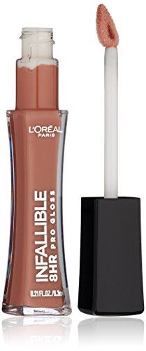L'Oréal Paris Infallible 8 HR Pro Gloss, Barely Nude, 0.21 fl. oz.