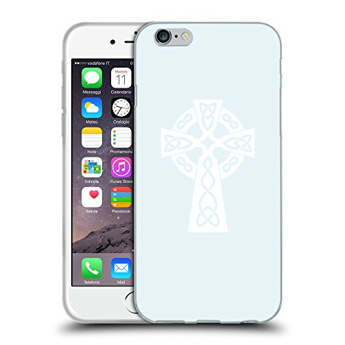 """GoGoMobile Coque de Protection TPU Silicone Case pour // Q09280619 Croix chrétienne 38 Bulles // Apple iPhone 6 4.7"""""""