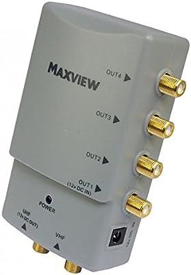 Caja de 4 salida amplificador de antena de televisión Antena Amplificador de señal digital avanzada [up1881] (ecoepitome® embalaje): Amazon.es: Iluminación