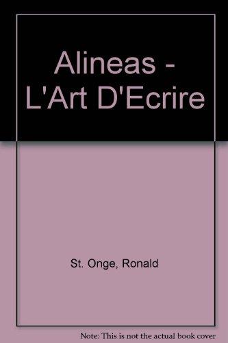 Alineas - L'Art D'Ecrire