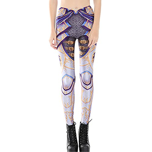 Joyhy Women's Elastic Waist Stretchy Printed Leggings Pants Footless Tights Yellow Armor for $<!--$12.99-->