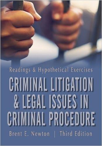 Criminal Litigation and Legal Issues in Criminal Procedure