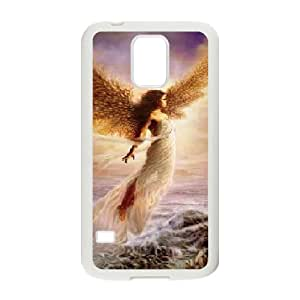 BLACCA Phone Case Of Guardian Angel,Hard Case !Slim and Light weight and won't fade, Scratch proof and Water proof.Compatible with All Carriers Allows access to all buttons and ports. For Samsung Galaxy S5 I9600