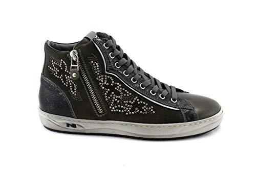 à 38 Gris Sport Fermeture Graphite Sneaker Anthracite 80647 Giardini éclair Nero nv8qIf7t