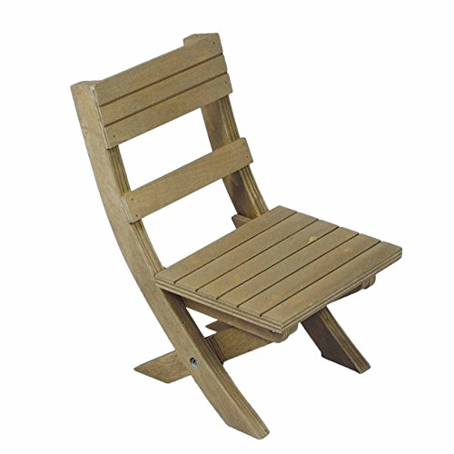 Adventure Camp Rustic Wooden Folding Chair, for Camping in Comfort and Style, Furniture Fits 18' American Girl Dolls