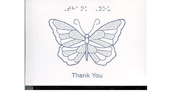 Braille y testar tarjeta gracias - Mariposa: Amazon.es: Oficina y ...