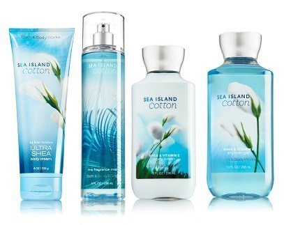 Sea Island Cotton Gift Set Signature Collection - Bath & Body Works - Body Lotion - Fragrance Mist - Body Cream & Shower Gel Full Size