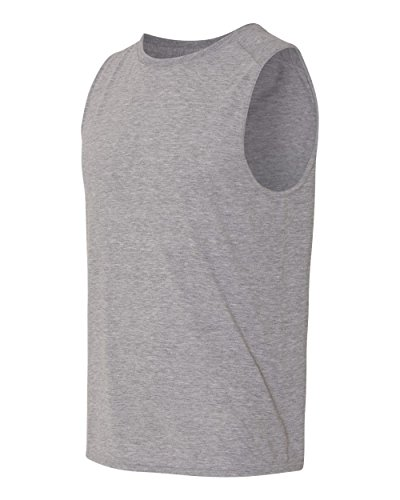Yoga Clothing For You Mens Sleeveless Muscle Tank Top, XL Sport Grey