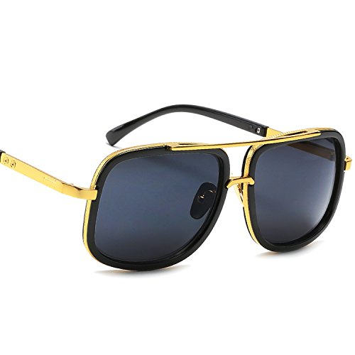 Eyerno Retro Aviator Sunglasses For Men Women Vintage Square Designer Sun - Designers Sunglasses
