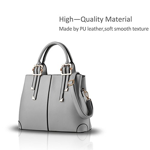 casual portable handbag blue messenger fashion light bag ADOO 2017 shoulder ladies Gray purse New for bag 6xwHwAn0