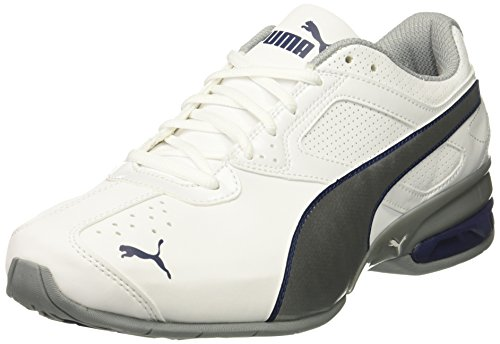 PUMA Men's Tazon 6 FM Sneaker, White Silver/Blue Depths,10.5 M US