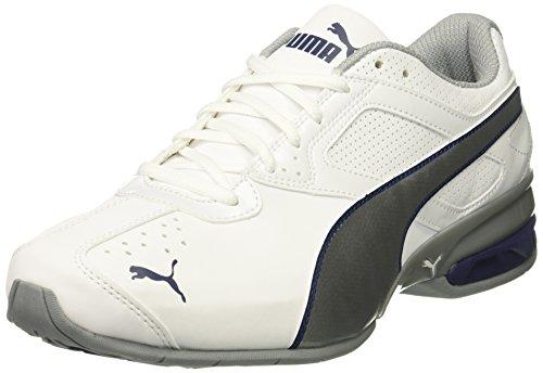 PUMA Mens Tazon 6 FM Sneaker Puma White-puma Silver/Blue Depths