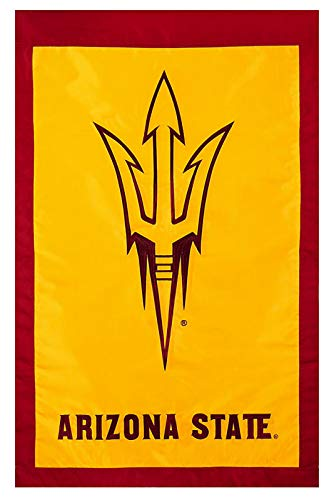 "Flagline Arizona State University - 28"" x 44"" Double Sided Appliqued NCAA Banner"
