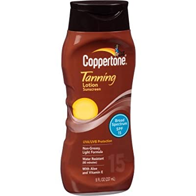 Coppertone Classic Scent Tanning Lotion Sunscreen SPF 15 8 oz