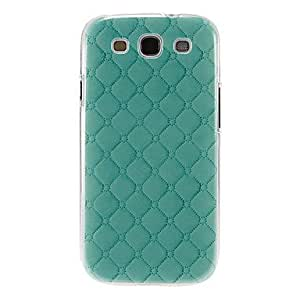 MOM Light Green Gridding Pattern Plastic Protective Hard Back Case Cover for Samsung Galaxy S3 I9300