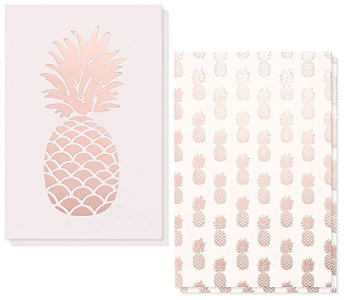 Palm Tree Stationary - 36-Pack Assorted All Occasion Greeting Cards - Pink Pineapple Design Assortment - Bulk Box Set with Envelopes Included - 2 Designs, 4 x 6 Inches